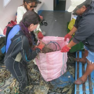 Ocean clean up with Academy Bay Diving