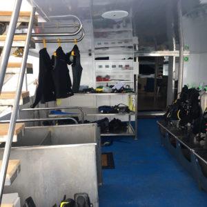 Calipso Dive deck Galapagos